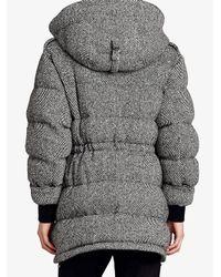 Burberry - Black Detachable Fur Trim Hooded Puffer Jacket for Men - Lyst