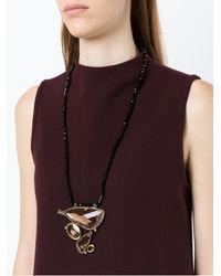 Camila Klein - Metallic Embellished Pendant Necklace - Lyst