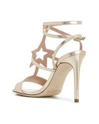 Alberto Gozzi - Metallic Star Strappy Sandals - Lyst