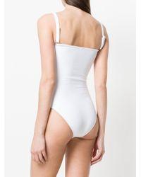 Beautiful Bottoms - White Plain Swimsuit - Lyst