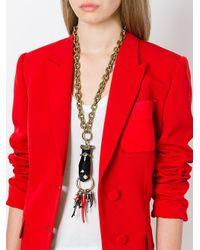 Lanvin - Black Long Hand Pendant Necklace - Lyst