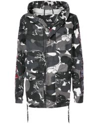 Haculla - Gray Kustom Camouflage Coat for Men - Lyst