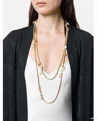Rosantica - Metallic Double Necklace - Lyst