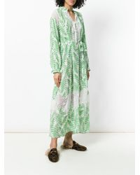 Saloni - White Fern Print Summer Dress - Lyst