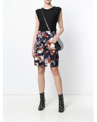 Theory - Black Hourglass High Waist Skirt - Lyst