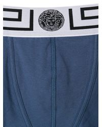 Versace - Blue Grecian Logo Boxer Briefs for Men - Lyst