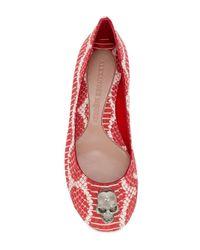 Alexander McQueen - Red Skull Detail Ballerinas - Lyst