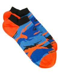 DIESEL - Blue Camouflage Pattern Socks for Men - Lyst