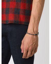 Roman Paul - Gray Beaded Bracelet for Men - Lyst