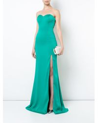 La Femme - Green Beaded Strapless Evening Gown - Lyst