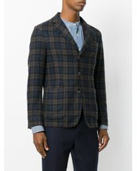 Barena - Blue Checked Blazer for Men - Lyst