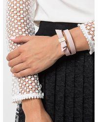 Ferragamo - Pink Vara Bow Double Bracelet - Lyst