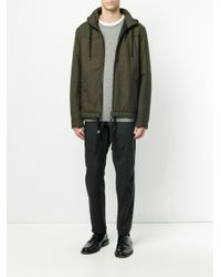 Lanvin - Green Technical Drawstring Jacket for Men - Lyst