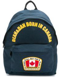 DSquared² - Blue Dean & Dan Born In Canada Backpack for Men - Lyst