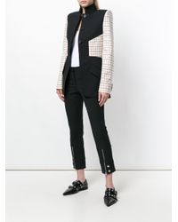 Alexander McQueen Black Grid Print Panelled Blazer
