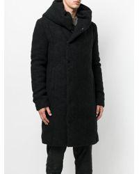 Forcerepublik - Black Oversized Hooded Coat for Men - Lyst
