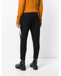 Neil Barrett - Black Contrast Panel Trousers for Men - Lyst