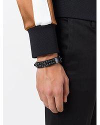DSquared² - Black Studded Buckled Bracelet for Men - Lyst
