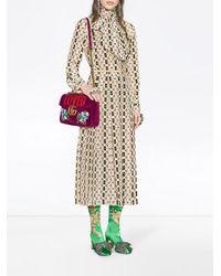 Gucci - Purple GG Marmont Medium Velvet Bag - Lyst
