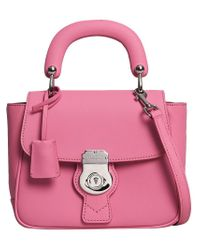 Burberry - Pink Small Dk88 Top Handle Bag - Lyst