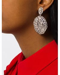 Aurelie Bidermann - Metallic Vintage Lace Clip-on Earrings - Lyst