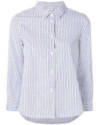 Aspesi - White Striped Shirt - Lyst