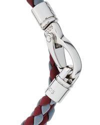Tod's - Red Classic Woven Bracelet for Men - Lyst