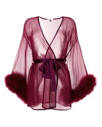 Gilda & Pearl - Red Sheer Night-gown - Lyst