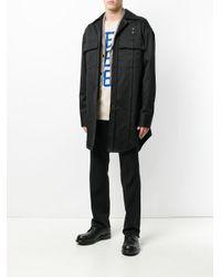 Raf Simons - Blue Oversized Shirt Jacket for Men - Lyst