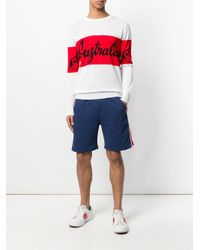 Gcds - Blue Stripe Detail Shorts for Men - Lyst