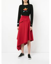 Bella Freud - Black Metallic Star-intarsia Jumper - Lyst