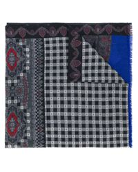 Etro - Gray Printed Paisley Scarf for Men - Lyst