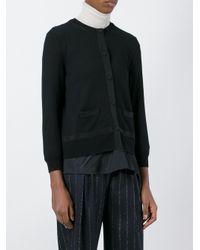 Moncler - Black Layered Cardigan - Lyst