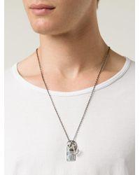 Werkstatt:münchen - Metallic Anchor Necklace for Men - Lyst