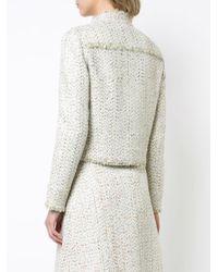 Giambattista Valli - Natural Cropped Tweed Jacket - Lyst