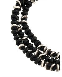 M. Cohen - Black Beaded Bracelet for Men - Lyst