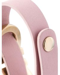 Ferragamo - Pink Gancio Bracelet - Lyst