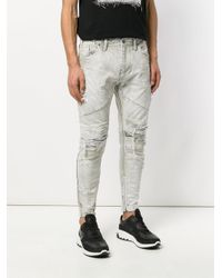Julius - Gray Ripped Jeans for Men - Lyst