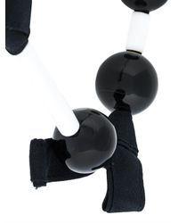 Marni - Black Fabric Ball Necklace - Lyst