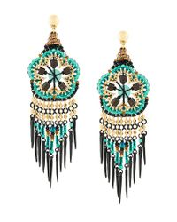 Gas Bijoux | Multicolor Huichol Flores Earrings | Lyst