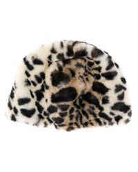 Bellerose - Brown Leopard Print Beanie - Lyst