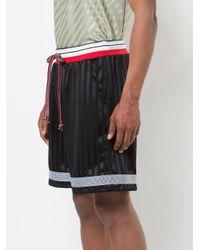 John Elliott - Black Striped Track Shorts for Men - Lyst