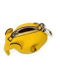 Loewe - Yellow Elephant Keyring - Lyst
