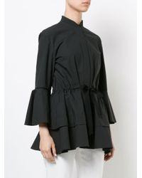 Josie Natori - Black Lantern Sleeve Mandarin Shirt - Lyst