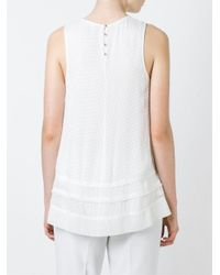 Proenza Schouler - White Embroidered Tank Top - Lyst
