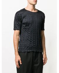 Issey Miyake - Black T-shirt à effet froissé for Men - Lyst