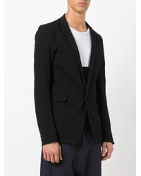 Poeme Bohemien - Black One Button Blazer for Men - Lyst