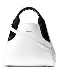 Lanvin | White Mini Cabas Tote Bag | Lyst