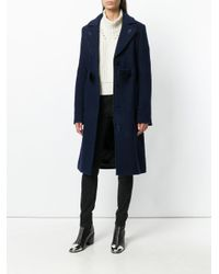 Carven | Blue Single Breasted Coat | Lyst