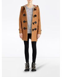 Burberry - Brown The Mersey Duffle Coat - Lyst